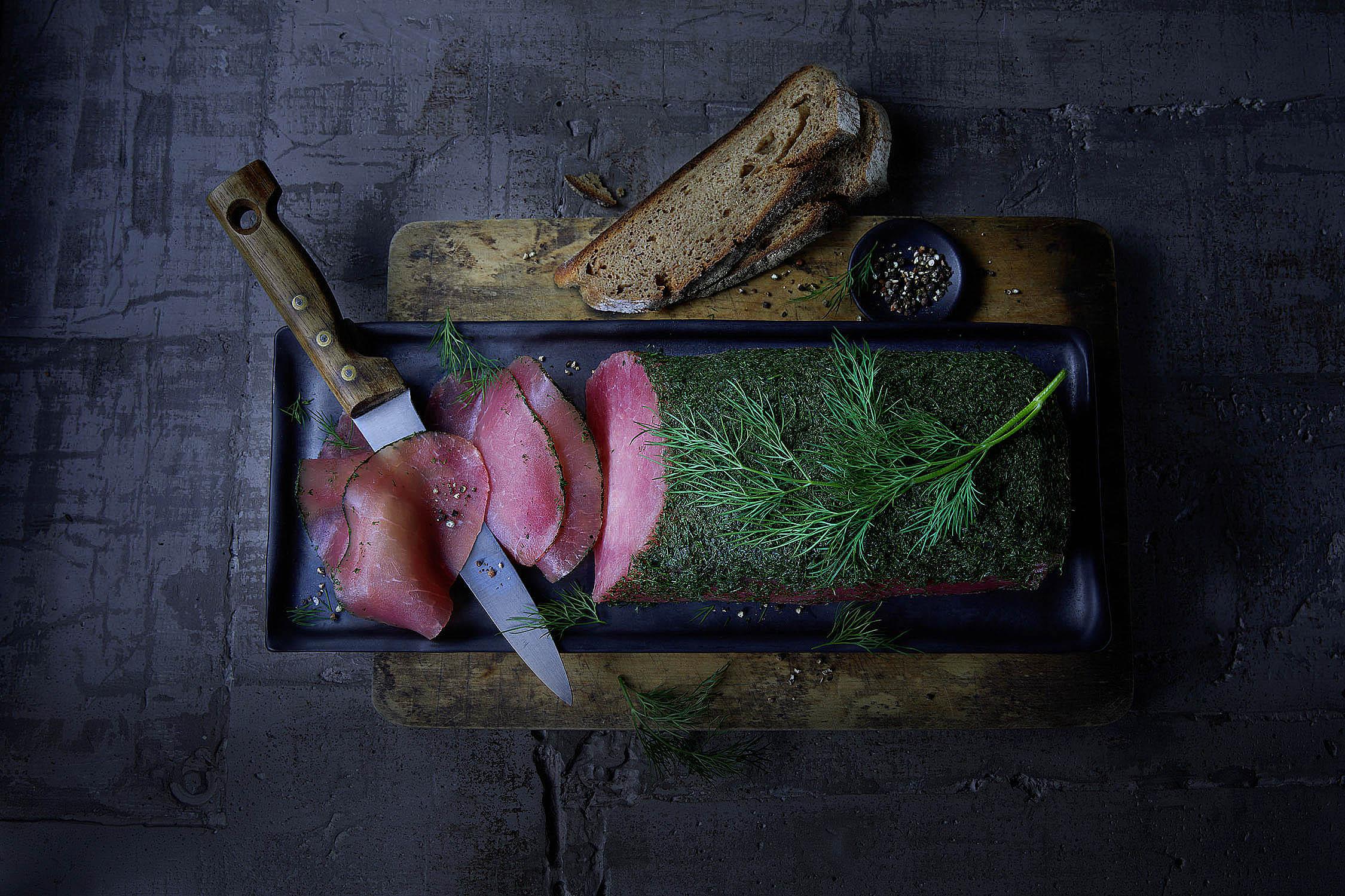 Graved Lachsfleisch